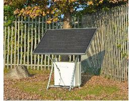 Single panel solar PV off grid array with battery bank